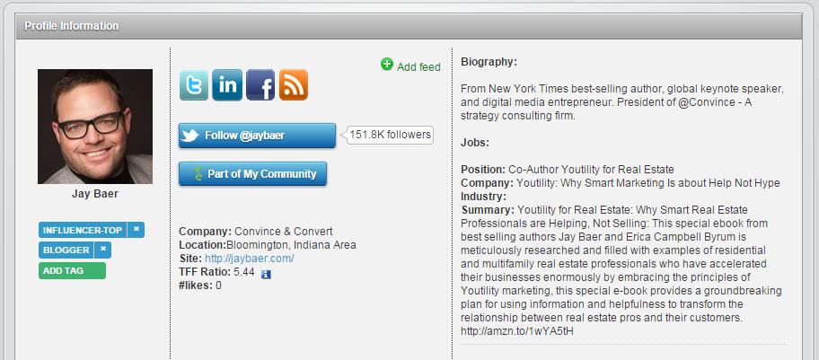 Jay Baer SocialEars Profile